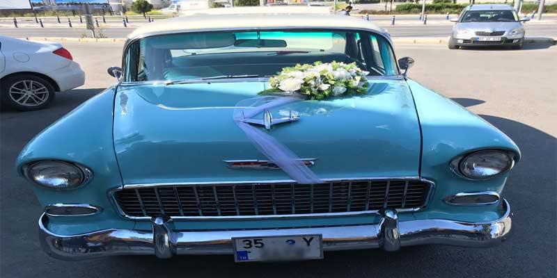 izmir klasik düğün arabası